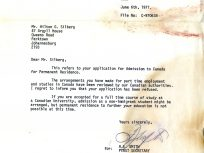 Canadian Embassy rejection letter