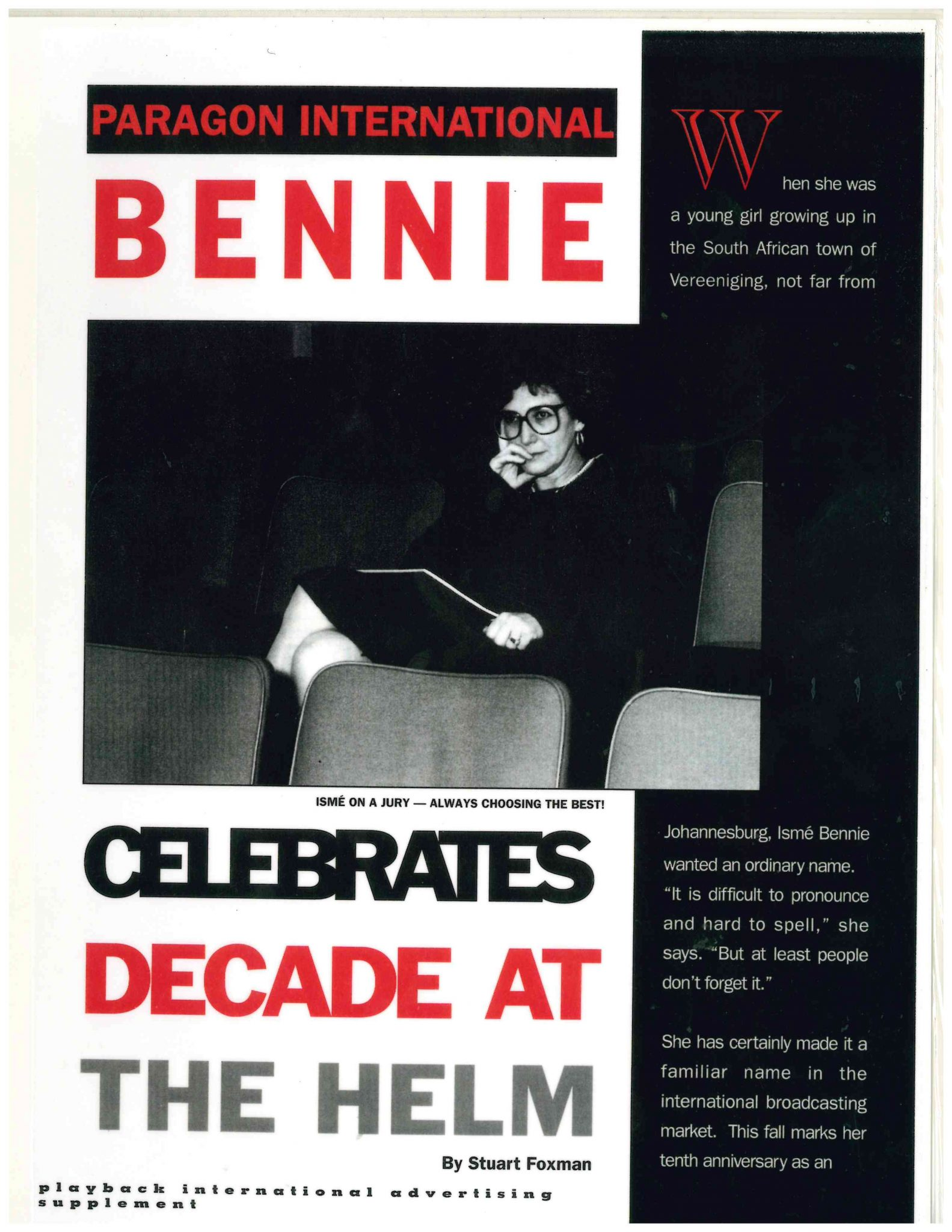 Celebration of Ismé Bennie