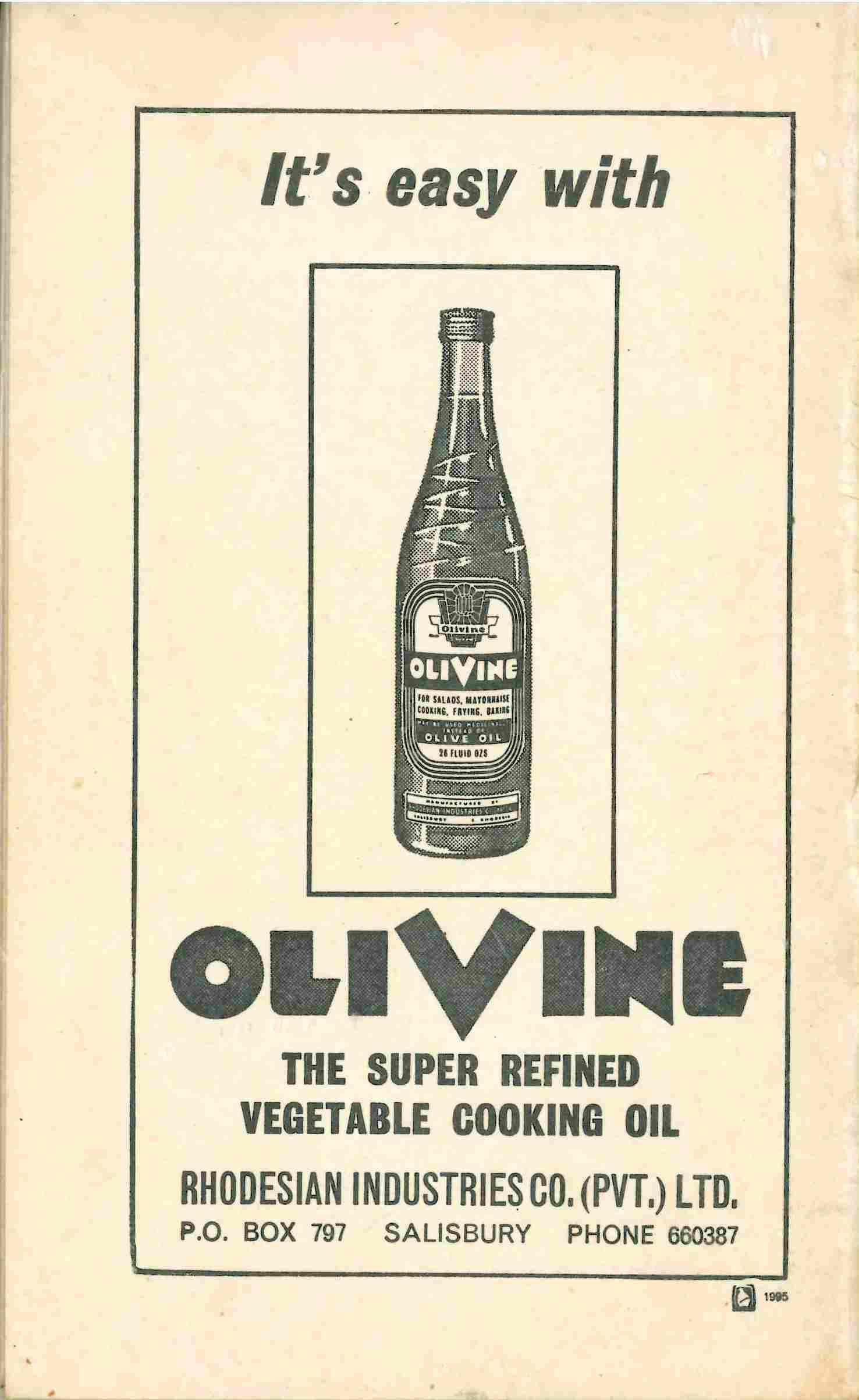 Advertisement from Sephardi recipe book
