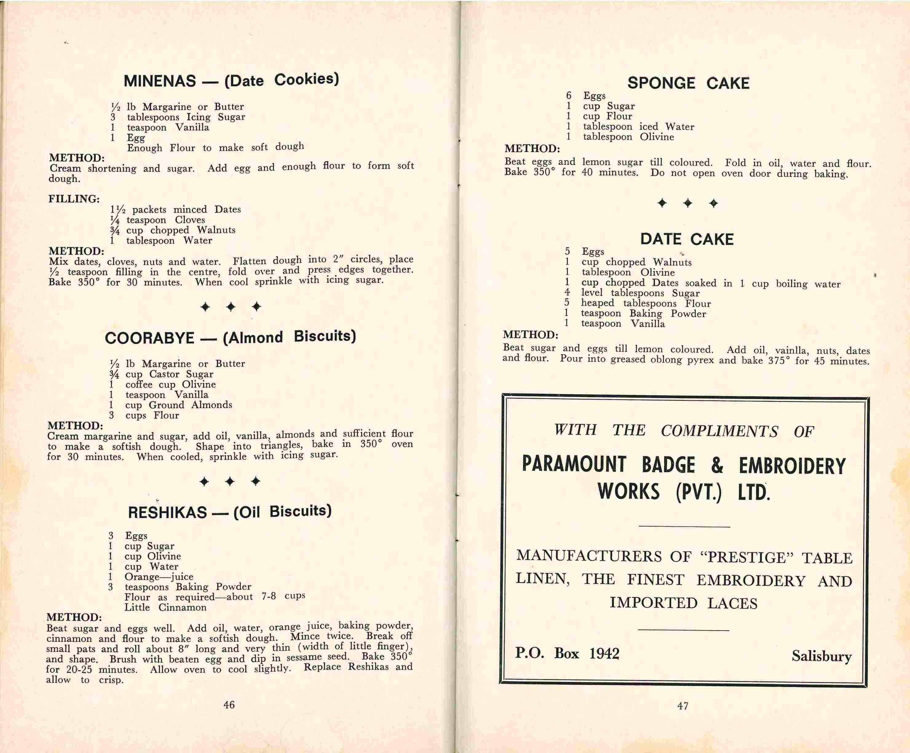 Recipes from Sephardi recipe book