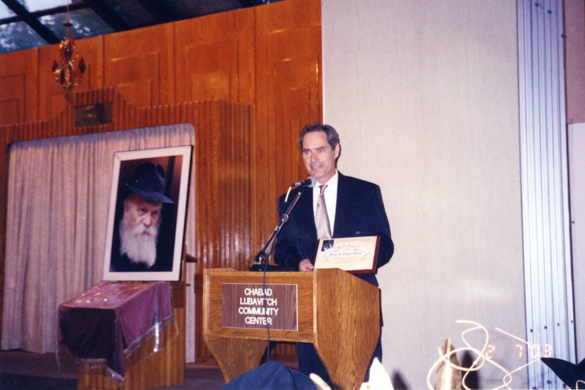 Paul receiving an award