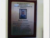 Plaque honouring Paul