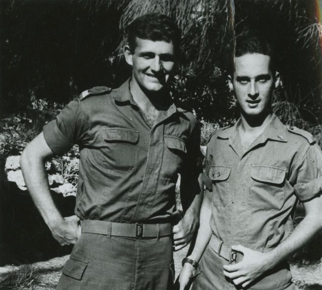 Richard Stern while serving in the Israeli army
